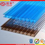 Feuille 100% matérielle de toiture de feuille de cavité de polycarbonate de qualité de Vierge