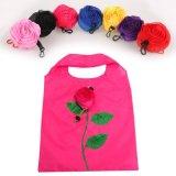 New Fashion Rose Flores Dobra Reutilizável Sacola de Compras Tote Eco Sacos de armazenamento