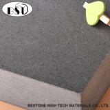Lastre di pietra impilate quarzo ultra grigio
