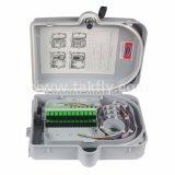 Коробка распределения/прекращения волокна 16 сердечников с отрезком провода и переходникой внутрь