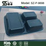 아마존 최신 판매 식사 Prep 플라스틱 음식 콘테이너 3 격실 Microwavable 저장 상자