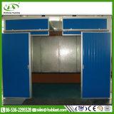 Três cabines de spray de cortina de água de superfície