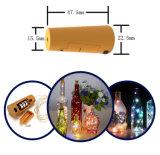 マイクロLEDの豆電球が付いている新製品電池のびんストッパーは卸し売りする