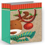 Мешки подарка бутика Handmade бумажные с голографической отделкой фольги