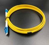 Cavo di zona di fibra ottica, LC/PC-LC/PC, duplex, incrocio di polarità per la rete e radio