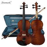 Violino attillato intagliato oggetto d'antiquariato professionale dei montaggi dell'ebano dalla Cina