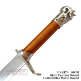 Espada 60cm HK8379 do filme de Swordcollectibles da fantasia do crânio