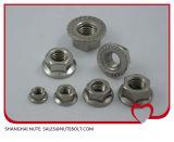 스테인리스 304 316 Hexagon Nut with 플랜지 DIN6923 ANSI 5/16-18