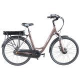 速度のPedelec都市電気自転車700cフレームの統合されたリチウム電池