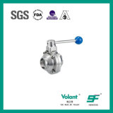 Posição 2 sanitária dos fins da braçadeira dos Ss 316 da válvula (silicone vermelho)