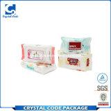 Étiquette humide de collant de chiffons de peau de soins de la peau faciles de bébé