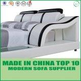 ホーム家具の現代寝室セットの革柔らかいベッド