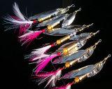 Feder-Fischerei-Gerät für Minnow-Fischen lockt Seanker-Haken an