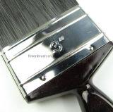 Escova de pintura preta da cerda com o punho plástico preto