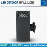 à travers la lumière principale 9X1wx2 18W de mur du grand dos DEL deux en aluminium d'hôtel de construction de yard