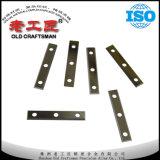 Extremidades/piezas insertas del funcionamiento de madera de carburo de tungsteno