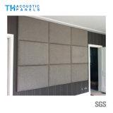 panneau insonorisant couvert de tissu décoratif amical de fibre de polyester de 100mm Eco pour le panneau de mur