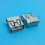 Pin do MERGULHO 4 do ângulo direito soquete fêmea do USB de 90 graus