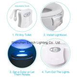 動きによって作動した洗面所夜ライト、LEDボールライト、変更する動きセンサーのシートライト8カラーは白い洗面所に合った