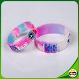 Neues Art-kundenspezifisches Firmenzeichen-Silikonleuchtender Wristband für Frauen