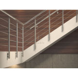 Commercial Building Staircase/Corridor Railin Side Mounted Steel Railing
