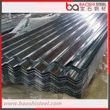 Materiales de construcción galvanizados cubriendo la hoja de acero