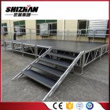 Étape en aluminium réglable de mariage de Modualr avec des escaliers
