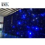 LEDの星ライトカーテンファブリックイベントのホールの背景幕は飾る