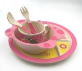 Kind-Mittagessen-Platte mit Löffel-und Gabel-preiswerter Melamin-Platte, Kind-Plastiknahrung
