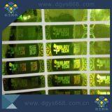 Diseño personalizado Iridescent transparente con forma de holograma de etiqueta Die-Cut