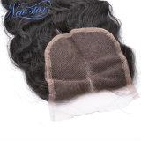 capelli umani del Virgin della parte 4X4 del merletto dell'onda allentata cinese centrale delle chiusure