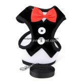 De Uitrusting van de Hond van Bowtie Red&Black van het Lood van Doggie van Kerstmis van het Product van het huisdier