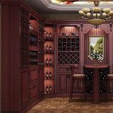 ワインのキャビネットが付いている居間の家具のキャビネット