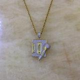 De bevroren uit Juwelen Mjhp146 van de Halsband van de Tegenhanger van de Microfoon van de Band van Mens Gouden Hip Hop