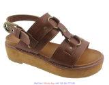 Женщин сандалий T-Полосы ботинки платформы кожаный толщиные с ЕВА