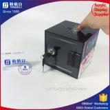Une caisse acrylique matérielle d'argent de pente
