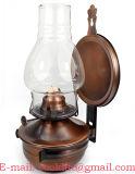Antike Bronze überzogene Wand-Leuchter-Kerosin-Lampe