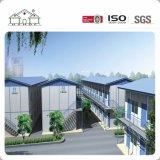 Casa prefabricada de la estructura de acero de la luz del diseño del bajo costo 3D como planes de la escuela