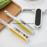 Couteau deux de Peeler en un fruit végétal Peeler de double outil multifonctionnel latéral de cuisine par Shopidea Esg10301