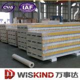 鋼鉄建物の製造のための堅い耐火性ポリウレタンサンドイッチパネル