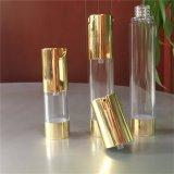 15ml 30ml 50ml Glanzende Gouden Kosmetische Flessen Zonder lucht met de Pomp van de Vorm van U van de Lotion