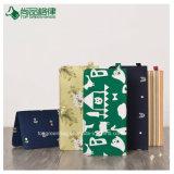 Personalizar a tela de alta qualidade na pasta padrão floral longo sacos bolsa tipo moeda