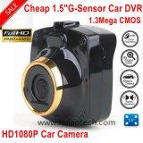 """1.5 """" полная камера черного ящика автомобиля HD 1080P с автомобилем DVR вид сзади автомобиля 1.3mega, G-Датчиком, ночным видением, паркуя видеозаписывающим устройством DVR-1505 цифров черточки вагона управления"""