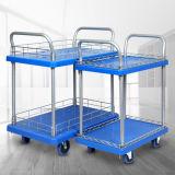 Kleiner Stamm-Nylondoppelrad-industrielle Fußrolle des Schwenker-120kg