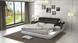 American meubles de rangement de luxe Chambre lit en cuir avec LED