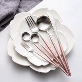 Acier inoxydable jeu de vaisselle plate de 4 de partie de Tableau de cuillères couteaux de fourches