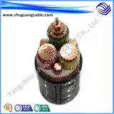 Изолированный XLPE PE оболочку кабеля питания Water-Proof высокого напряжения