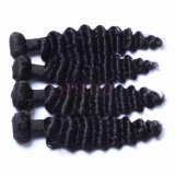 Indian vierge vague profonde Remy Hair noir naturel cheveux vierge 100 %