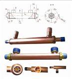 Riscaldatore dell'unità del tubo di rame per la fornace di legno esterna