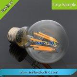 Dimmable A60 E27 4W-8W chauffent l'ampoule blanche d'éclairage LED de filament